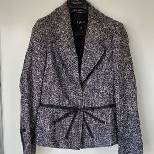 ESCADA black tweed ribbon bow blazer 40